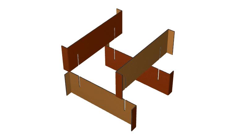 Paper crates fefco 932