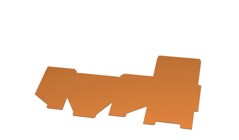 Sposób składania pudła klapowego